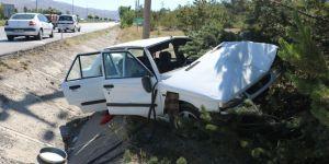 Araç yoldan çıktı! 2 yaralı