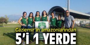 Gaziemir Kadın Atletizm Takımına 5 madalya