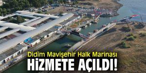 Didim Mavişehir Halk Marinası hizmete açıldı!