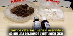 İzmir'de yakalanan şahısın üzerinden 60 bin lira değerinde uyuşturucu çıktı