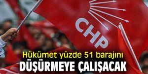 CHP'den flaş iddia! 'Hükümet yüzde 51 barajını düşürmeye çalışacak'