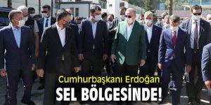 Cumhurbaşkanı Erdoğan sel bölgesinde!