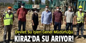 Devlet Su İşleri Genel Müdürlüğü Kiraz'da su arıyor!