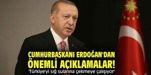 Cumhurbaşkanı Erdoğan'dan önemli açıklamalar! 'Türkiye'yi sığ sularına çekmeye çalışıyor'