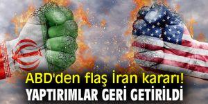 ABD'den flaş İran kararı! Yaptırımlar geri getirildi