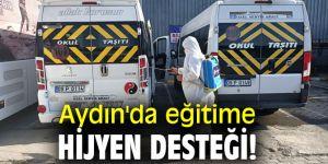 Aydın'da eğitime hijyen desteği!