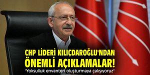"""CHP lideri Kılıçdaroğlu'ndan önemli açıklamalar! """"Yoksulluk envanteri oluşturmaya çalışıyoruz"""""""