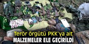 Terör örgütü PKK'ya ait malzemeler ele geçirildi
