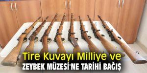 Tire Kuvayı Milliye ve Zeybek Müzesi'ne Tarihi Bağış