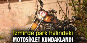 İzmir'de motosiklet kundaklandı