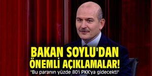 """Bakan Soylu'dan önemli açıklamalar! """"Bu paranın yüzde 80'i terör örgütü PKK'ya gidecekti"""""""