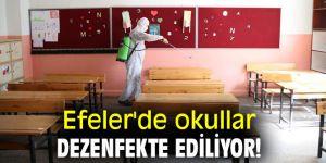 Efeler'de okullar dezenfekte ediliyor!