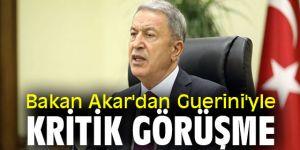 Bakan Akar'dan Guerini'yle kritik görüşme!