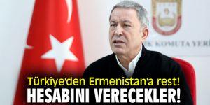 Türkiye'den Ermenistan'a rest!