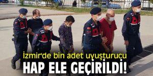 İzmir'de bin adet uyuşturucu hap ele geçirildi!