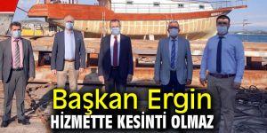 Başkan Ergin'den hizmet açıklaması