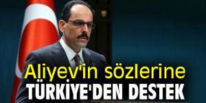 Aliyev'e Türkiye'den destek