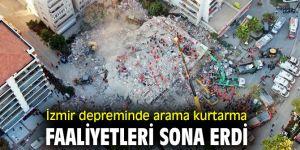 İzmir'de arama kurtarma faaliyetleri sonlandı