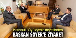İstanbul Büyükşehir heyetinden Başkan Soyer'e ziyaret