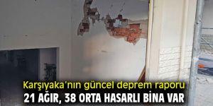 Karşıyaka'nın güncel deprem raporu yayınladı!