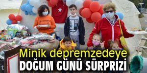 İzmir Büyükşehir'den minik depremzedeye doğum günü sürprizi