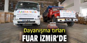 Dayanışma tırları İzmir'e ulaştı