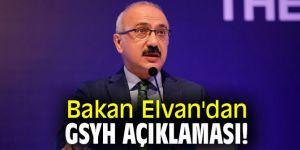 Bakan Elvan'dan GSYH açıklaması!