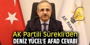 AK Partili Sürekli'den Deniz Yücel'e AFAD cevabı