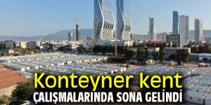 İzmir'de konteyner kent çalışmalarında sona gelindi