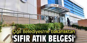 Çiğli Belediyesi'ne bakanlıktan 'sıfır atık belgesi'