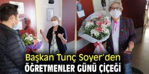 Tunç Soyer'den Öğretmenler Günü çiçeği