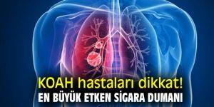 KOAH hastaları dikkat! En büyük etken sigara dumanı