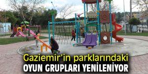 Gaziemir'in parklarındaki oyun grupları yenileniyor