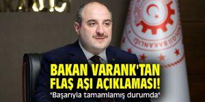 """Bakan Varank'tan flaş aşı açıklamaları! """"Başarıyla tamamlamış durumda"""""""
