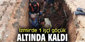 İzmir'de İZSU çalışama alanında göçük