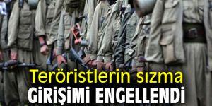 Barış Pınarı bölgesinde sızma girişimi engellendi