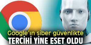 Google'ın siber güvenlikte tercihi yine ESET oldu