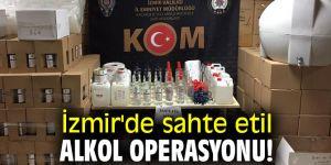 İzmir'de sahte etil alkol operasyonu! 7 kişi yakalandı