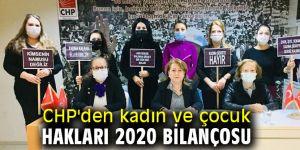 CHP'den kadın ve çocuk hakları 2020 bilançosu