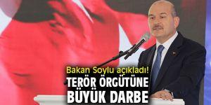 İçişleri Bakanı Süleyman Soylu açıkladı! Terör örgütüne büyük darbe