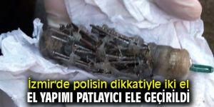 İzmir'de iki el yapımı patlayıcı ele geçirildi
