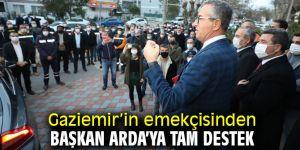 Gaziemir'in emekçisinden Başkan Arda'ya tam destek