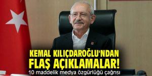 Kemal Kılıçdaroğlu'ndan flaş açıklamalar! 10 maddelik medya özgürlüğü çağrısı