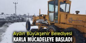 Aydın Büyükşehir Belediyesi karla mücadeleye başladı