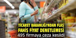 Ticaret Bakanlığı'ndan flaş fahiş fiyat denetlemesi! 495 firmaya ceza kesildi