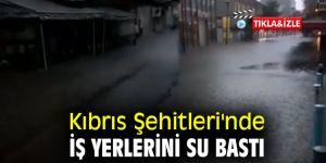 Kıbrıs Şehitleri'nde iş yerlerini su bastı