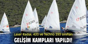 Laser Radial, 420 ve Techno 293 sınıfları Gelişim Kampları yapıldı!