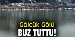 İzmir'de Gölcük Gölü buz tuttu!