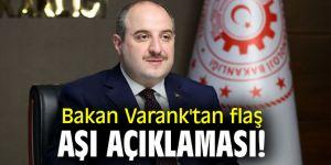 Bakan Varank'tan flaş aşı açıklaması!