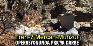 Eren-7 Mercan-Munzur operasyonunda PKK'ya darbe